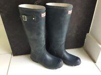 Hunter blue Wellington boots size 4