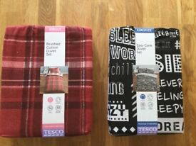 King size and single duvet sets *new*