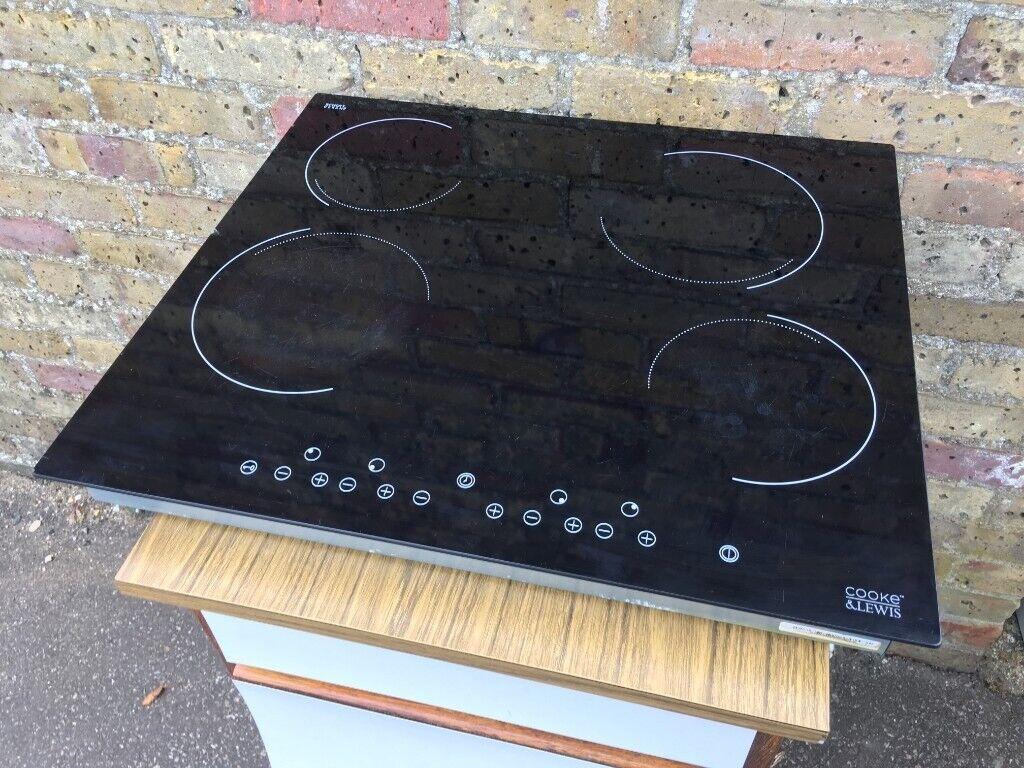 Cooke Lewis Clec1bk C 4 Zone Black Glass Ceramic Hob In Cambridge Cambridgeshire Gumtree