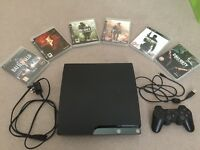 PlayStation 3 Slim 250gb + 6 games + 1 controller + AV Cable