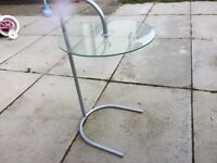 Lamp glass table