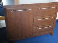 Next Walnut Chest of Drawers Unit Sideboard