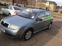 2003 Skoda Fabia 1.2cc—9 months mot,excellent runner,remote key,very reliable car,good engine & box.