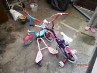 tricycle,scooter ,flicker (childrens)