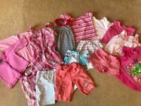 Baby Girl Summer Clothes Bundle - size 1