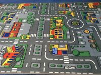 Toy cars and playmat