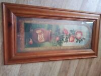 3 large oblong pictures of flowers/floral