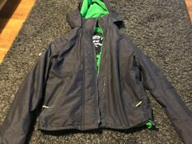 Superdry Windcheater XL Hooded Green/Grey