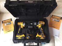 DeWalt Dual Kit - Hammer Drill -DCD796/ Impact - DCF887 / 2X5ah Batteries + Charger & Case.