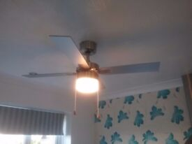Ceiling fan + light