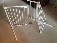 Babydan stairgates with extensions. Will fit any door. Suction/spring. No drilling.