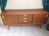 Sideboard with two cupboards and three drawers