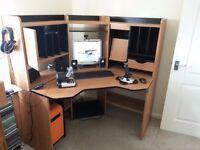 Corner Computer Station/Desk