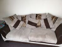 Sofa going for free. Need rid of ASAP. Can fit 4 people on it. Comes with 3 cusions.
