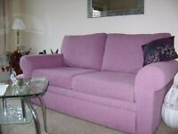 double sofa-bed, lilac, good condition.