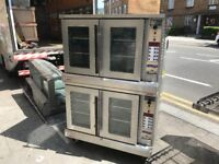 TWIN CONVECTION FAN OVEN CATERING COMMERCIAL BAKERY FAST FOOD RESTAURANT CAFETERIA BAR KITCHEN SHOP