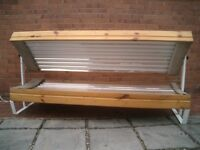 16 Tube high power fast tanning double canopy sunbed 160 Watt tubes in Canopy 100 Watt tubes in base