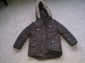 4-5 years brown winter jacket in excellent condition