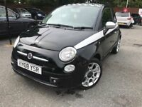 08 plate- fiat 500 - 1.2 petrol - one year mot- one former keepers - low 68K on the clock