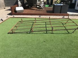 Heavy duty custom made an roof rack 3.20 meters x 1.45 meters could be modified too fit most vans