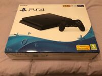 BRAND NEW SEAL UNOPENED PS4 SLIM 500 GB. BLACK £210 NO OFFERS. CAN DELIVER