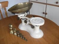 Traditional cast iron kitchen scales