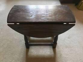 Side table dark oak