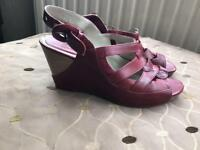 Red Leather Clark's Sandsl