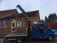 Small crane hiab lifting hire bags of logs, small machines, workshop moving ,oil tanks, hot tubes