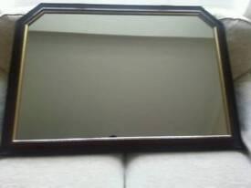 Large mahogany framed mirror