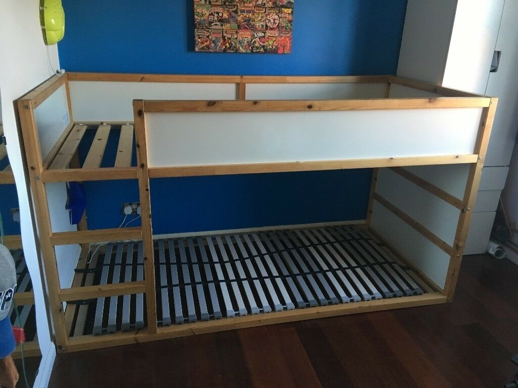ikea kura reversible bed & lÖnset slatted bed base | in bowerhill