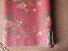 Italian Designer Wall Covering. 4 rolls - 10.05 mts long X 0.705 mts wide extra wide
