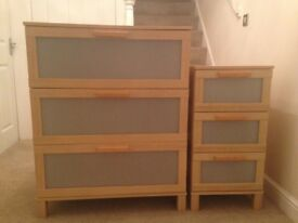 3 drawer chest and bedside table