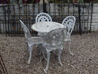 Cast aluminium Garden Set / Patio / Outdoor / Garden / Cast Iron / Victorian / Vintage / Decking