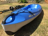 BIC Bilbao Kayak with paddle, trolley and seat