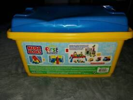 Mega block in storage box great Christmas gift