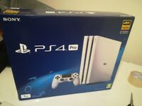 PS4 PRO Console 1tb WHITE BRAND NEW (open with some outer packaging damage)