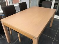 Seven Piece Dining Set - Milano Six Seat Dining Table - Very Good Condition