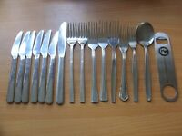 Selection of cutlery + bottle opener