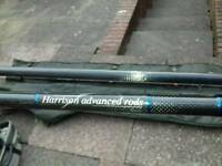 Harrison Torrix 12ft 3.25lb T.C carp fishing rods