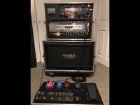 Mesa Boogie 2x12, Midi switcher/looper, effects pedals & flight cases