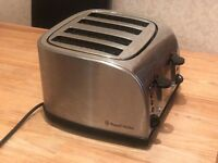 Russell Hobbs 4 Slice Wide Slot Toaster - Brushed Silver