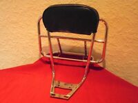 Vespa Cuppini 2 in 1 (Rear) Backrest and Carrier with Black Backrest Pad.