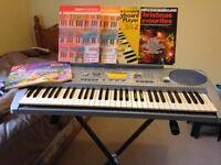 Yamaha Keyboard+stand+carry bag+music books