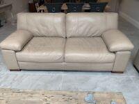 2 x sofology linara 3 seater sofas in Dakota light taupe