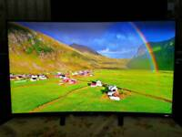 "Samsung UE55HU8200 55"" Curved 4K UHD 3D Smart Freeview Freesat HD LED"