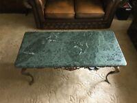 Genuine marble top coffee table