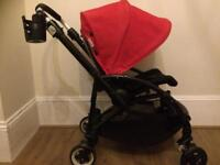 Bugaboo bee buggy pram red with extras