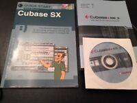 Cubase Sx Quick Start book and CD plus Cubase SE3 book and CD