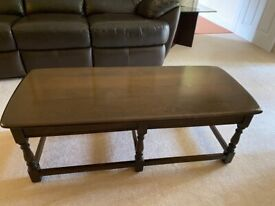 Ercol Old Colonial dark oak coffee table